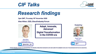 CIF Research Findings webinar
