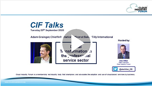 CIF Talks - 29 September 20