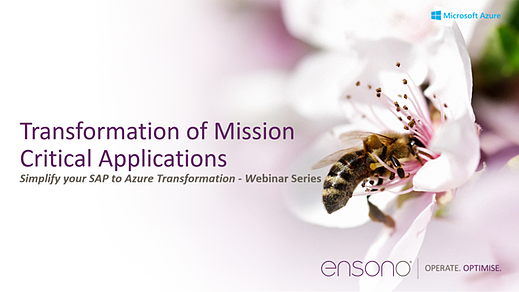 Ensono Transformation of mission critical apps