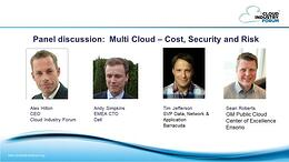 Managing cost risk and security in multi cloud